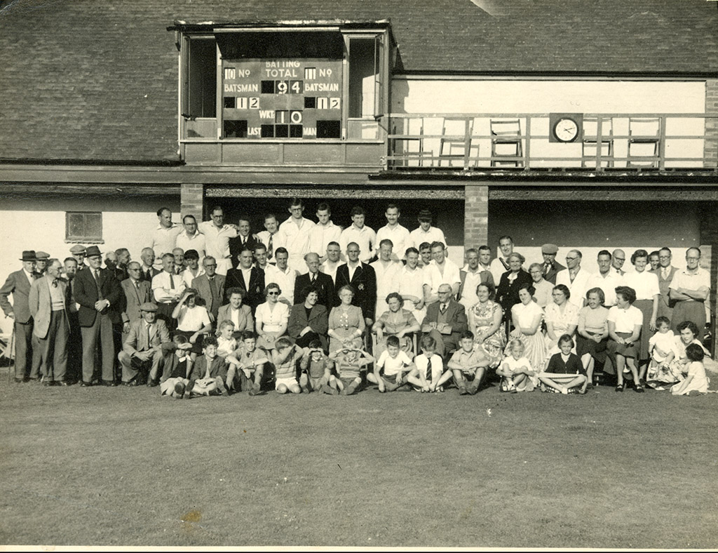 hadleigh and thundersley cricket club august 1953 pavilion opening